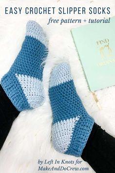 One Skein Crochet, Crochet Boots Pattern, Easy Crochet Slippers, Crochet Slipper Boots, Crochet Car, Crochet Gratis, Crochet Shoes, Slipper Socks, Free Crochet Slipper Patterns