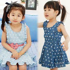 Aliexpress.com : Buy 2014 summer girls clothing baby child faux denim sleeveless one piece dress qz 0638 on Kids Fashion Clothing - Worldwid...