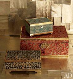 L'OBJET: Architectural Digest Magazine, Decorative Boxes (www.l-objet.com)
