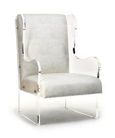 Wingback Lucite Chair