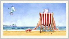 Vintage Seaside Postcard 2 by Tom Connell, via Behance
