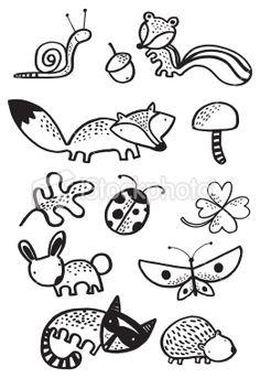 how to draw cartoon woodland animals