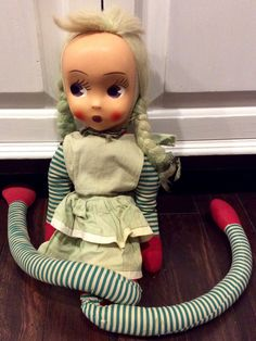Vintage Mask Face Big Eyed Rag Doll, Vintage Rag Dolls,Kitschy Dolls, Collectible Dolls, Vinyl Face Doll,Handmade Doll,Mask Face Polish Doll by Lalecreations on Etsy