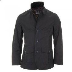 Barbour Lutz Wax Jacket - Navy