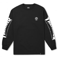 HUF X THRASHER L/S Tee-shirt à manches longues noir 45,00 € #skate #skateboard #skateboarding #streetshop #skateshop @playskateshop