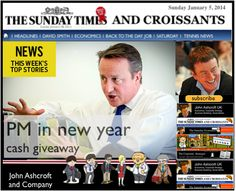 The Sunday Times and Croissants, PM in new year cash giveaway makes the headlines