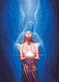 In altered state of consciousness you will feel an Angel embracement & Love