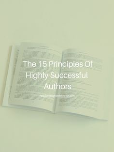 The 15 Principles Of Highly Successful Authors — Stephanie Lennox