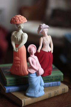 Proper Ladies - Vintage Avon perfume bottle figurines - love these! (Etsy store: WheresMahach)