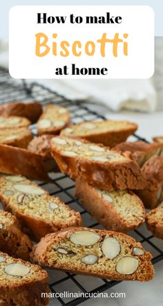 How to make biscotti with this tried and well tested recipe Italian Almond biscotti are easy to make at home. They are crunchy and perfect for dipping in vin santo or an espresso. Baking Recipes, Dessert Recipes, Almond Recipes, Muffins, Biscotti Cookies, Italian Cookies, Italian Biscuits, Biscuit Recipe, Italian Recipes