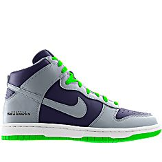 NIKEiD is custom making this Nike Dunk High (NFL Seattle Seahawks) iD Shoe  for