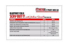 Blueprint For a Sexy Butt: 4-week workout plan with IFBB Pro Juliana Daniell. Just print and go!