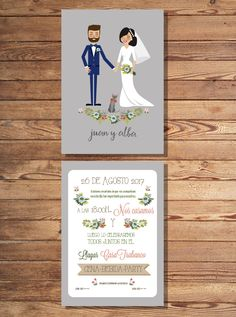 wedding illustration #wedding #weddinginvite #invitaciondeboda #boda #papeleriadeboda