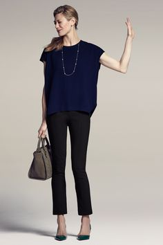7 Ways to Wear Navy and Black for Work (or How to Look French ...