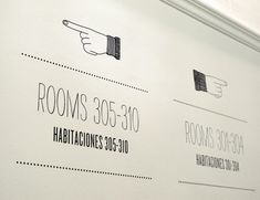 Wayfinding system for Casa Gracia Boutique Hostel in Paseo de Gracia, Barcelona. By Mayuscula www.mayuscula.es