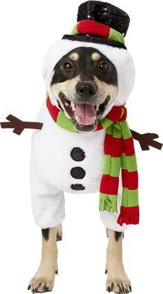 e2770eff65 Rubie's Costume Company Snowman Dog Costume, Medium - Chewy.com Dog  Costumes, Snowman