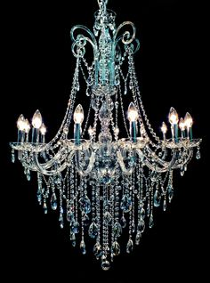 1000 ideas about blue chandelier on pinterest. Black Bedroom Furniture Sets. Home Design Ideas