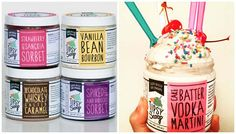 """Tipsy Scoop """"blends the magic of an artisanal hand-crafted ice cream with the…"""