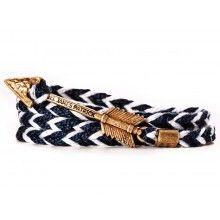 Jayhawk Archer Bracelet in Navy and White by Kiel James Patrick