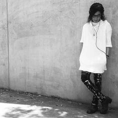OOTD - High Neck White Coated Cotton Stretch Knit / Stretch Slim White Coated Pants - zero #zero #zerointernational #washi #blackfashion #darkfashion #black #japan #osaka #madeinjapan #大阪 #ファッション #メンズファッション #unisex #ユニセックス #ootd #instafashion #靭本町 #日本 #和紙 #style  #osaka  #streetfashion #ゼロ #guidi #iolom #jhp #fashion #fashionsnap @zero___international @zero_staff_oka