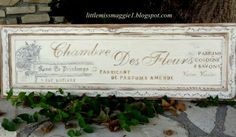 Chambre de Fleur - I <3 this ... must recreate it on one of the MANY doors I have in storage