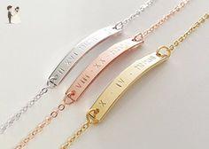 A Bridesmaid Bracelet Roman numeral Gold Bracelet Anniversary Gifts Personalized Jewelry - 3BR - Wedding bracelets (*Amazon Partner-Link)