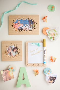 Make beautiful picture frames with a how-to from Flax & Twine and the new Frame Border Punch from #marthastewartcrafts