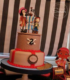 Amazing cake at a Jake and the Neverland Pirates birthday party! See more party ideas at CatchMyParty.com!