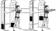 Standing cable chest press exercise