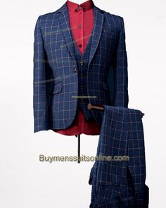 New Style Blue Wedding Suits 2015 Package and Shoes with Vest