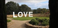 DIY Giant Love Sign
