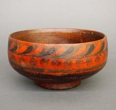 Painted wooden bowl - Price Estimate: $200 - $300