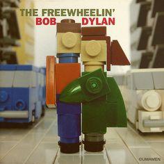 """LEGO """"Freewheelin"""" album cover is as heartwarming as the original"""
