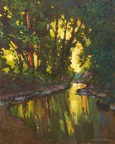 Cool Creek - Giclee Fine Art PRINT de la pintura Original mate 11 x 14 por Jan Schmuckal
