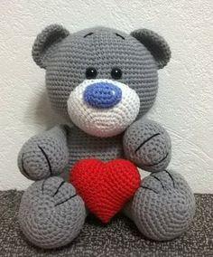 Ami-Domi del terreno: amigurumi tejer: Amor del oso