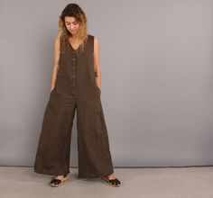 Conscious Clothing, sustainable, handmade, eco friendly, low impact, organic linen jumpsuit