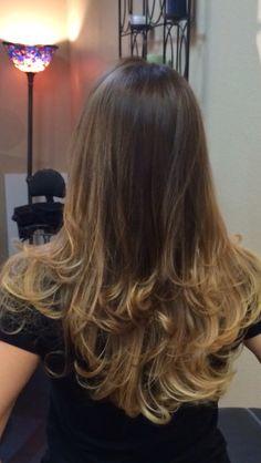 Brunette ombré - hair by Chena