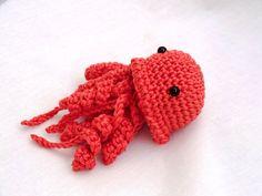Mini amigurumi jellyfish PDF crochet pattern