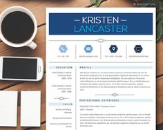 Resume Template Instant Download Creative Resume by SuccessTools