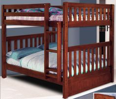Solid Wood Full Over Bunk Bed
