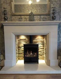 Most recent Images gas Fireplace Mantels Suggestions Customer Gallery Gas Fireplace Mantel, Inglenook Fireplace, Fireplace Remodel, Fireplace Surrounds, Fireplace Design, Fireplaces, Log Burner Living Room, Living Room With Fireplace, Home Living Room