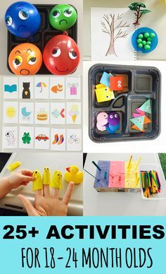 25+ learning activities for toddlers, list (18 - 24-month-old)