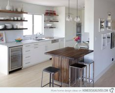 15 Small Kitchen Tables in Different Kitchen Settings | Home Design Lover