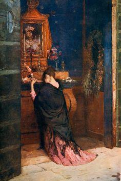 A Prayer to the Madonna - Maurice Bompard
