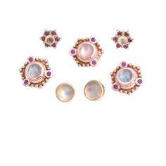 moonstone + rose gold + purple diamonds