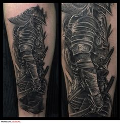 ver imagenes de tatuajes de samurais - Buscar con Google Wicked Tattoos, Dope Tattoos, Leg Tattoos, Black Tattoos, Arm Tattoo, Body Art Tattoos, Tattoos For Guys, Sleeve Tattoos, Samurai Tattoo Sleeve