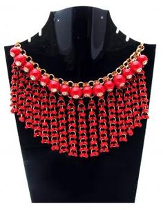 #Pearl Mehroon Color #Necklace to be stylish in the party and other occasions.