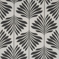 Vogue by Clarke & Clarke - Black / White : Wallpaper Direct Vogue Wallpaper, Palm Wallpaper, Wallpaper Direct, Wallpaper Online, Wallpaper Ideas, Graphic Patterns, Print Patterns, Fabric Patterns, Black And White Wallpaper