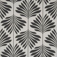 Vogue by Clarke & Clarke - Black / White : Wallpaper Direct Vogue Wallpaper, Palm Wallpaper, Wallpaper Direct, Wallpaper Online, Wallpaper Ideas, Graphic Patterns, Print Patterns, Fabric Patterns, Black And White Wallpaper