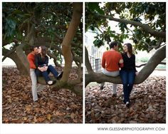 Katie+Jake's beautiful fall engagement session at their alma mater, Wake Forest University, in Winston-Salem, NC | ©2013 Glessner Photography | Hair and Makeup by UPDO's Studio in Kernersville, NC